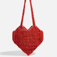 Heart Beaded Shoulder Bag | Topshop