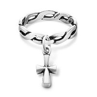 Twisted Wire Dangle Ring St. Teresa Cross | James Avery