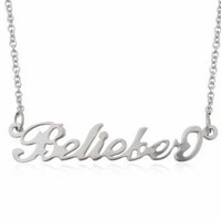 Belieber Necklace perfect for a Justin Beiber by EnjoyJewellery