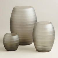 Gray Ombre Hurricane Candleholders - World Market