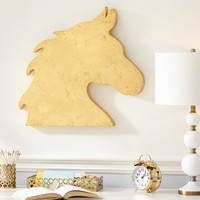 Gold Horse Wall Decor