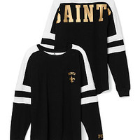 New Orleans Saints Pocket Varsity Crew - PINK - Victoria's Secret