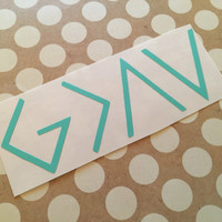 God Is Greater Than The Highs and The Lows | Christian Decal | Faith | Inspirational | Hope