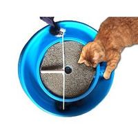 Premium Cat Scratcher Toy with Catnip and Mouse Combo Set - Toy Mouse and Catnip for Cats - Cat Scratching Pad