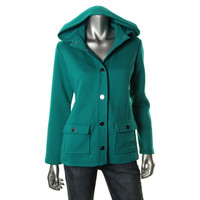 Style & Co. Womens Quilted Snap Front Coat