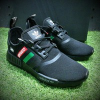 Best Online Sale Undefeated x Adidas Customise NMD R1 PK Boost Men R_1 Black Green Sport Running Shoes BA7785