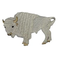 White Buffalo Applique Patch (Large, Iron on)
