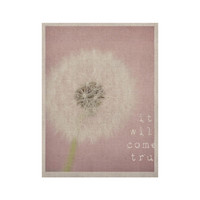 """Susannah Tucker """"It Will Come True"""" Pink Flower KESS Naturals Canvas (Frame not Included)"""