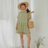 Button-Down Loose Dress