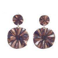 Pink by Ele In The Round Organic Round Drop Earrings - Gold