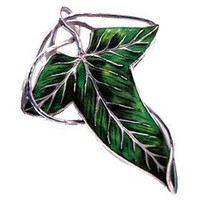 The Lord of the Rings Sterling Silver Elven Leaf Brooch: WBshop.com