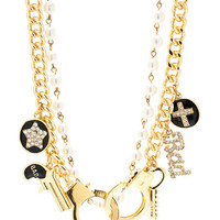 BAD BAD GIRL PEARLY CHARM NECKLACE