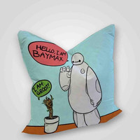 Hello baymax and groot, pillow case, pillow cover, cute and awesome pillow covers