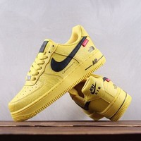 KUYOU N164 Nike Air Force 1 Supreme X The North Face Causal Skate Shoes Yellow