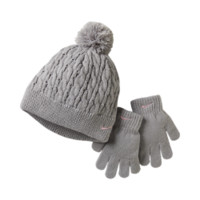 Nike Cable Knit Kids' Hat And Gloves Set (Grey)