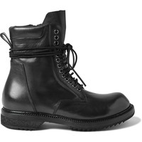 Rick Owens - Leather Lace-Up Boots