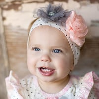 Giggle Moon-Graced Knit Headband  (size Infant)