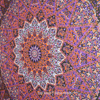 Multicolor Celestial Psychedelic Hippie Star Mandala Tapestry Boho Wall Hanging on RoyalFurnish.com