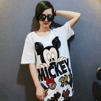 Disney Character Printed Loose T-Shirt