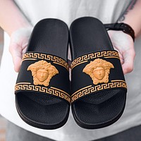 Versace fashion outdoor non-slip sandals and slippers men's beach shoes