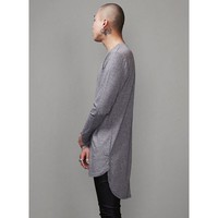 Mens XQUARE 23 Unblance Back Extended Long T shirt - 92cm at Fabrixquare