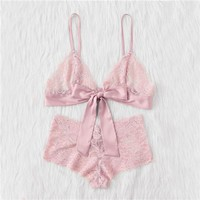 Pink Bralette and Panty Set