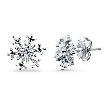 Sterling Silver CZ Snowflake Stud EarringsBe the first to write a reviewSKU# e1303-01