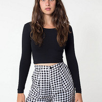 Gingham Relaxed Pleated Short