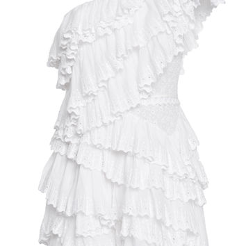 Zeller Ruffled One Shoulder Dress | Moda Operandi