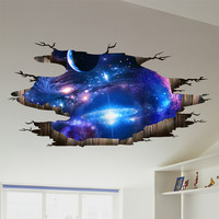 the Milky Way Universe 3D Wall Stickers Creative Wall Decals DIY Home Decor Sticker for Kids Rooms Celling Floor Decoration