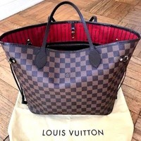Authentic Louis Vuitton Damier Neverfull MM Tote Bag