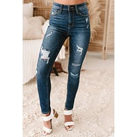 Rewriting Your Story High Rise Distressed Skinny Jeans (Medium Vintage)