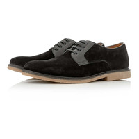 Black Suede Lace Up Shoes - Casual Shoes - Shoes and Accessories - TOPMAN USA