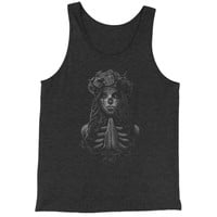 Praying Girl Day Of The Dead Jersey Tank Top for Men