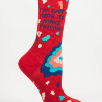 Not Here to Make Friends Women's Socks