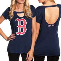 Boston Red Sox Ladies Cutout Tee | SportyThreads.com