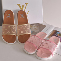 LV Louis Vuitton slippers new style outer wear fashion all-match sandals beach slippers Shoes