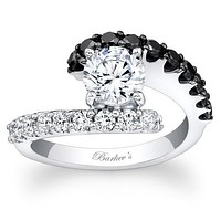 Barkev's Black Diamond Bypass Diamond Engagement Ring