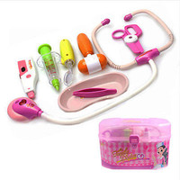 2017 Medical Kit Kids Doctor Toys Set Role Play Toy Children Pretend Play House