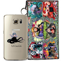 Disney's Villains (Ursula) Jelly Clear Case For Samsung Galaxy S7 EDGE + Pouch