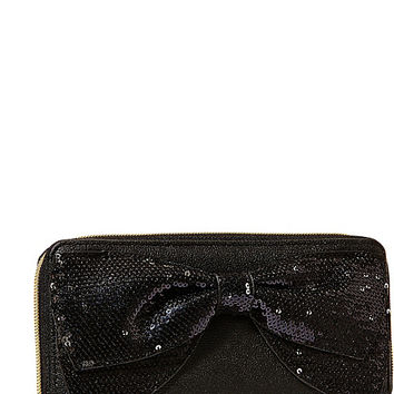 BOW REGARD ZIP AROUND WALLET