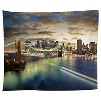 NYC On The Hudson Tapestry