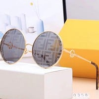 Fendi Fashion Women Summer Sun Shades Eyeglasses Glasses Sunglasses