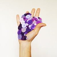 SALE From The Button of My Heart giant brooch by themesh