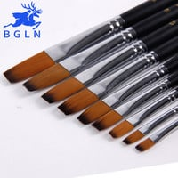 Bgln 9 Pcs Artist Brush for Watercolor, Acrylic, Oil, Art, Face Painting. Set-11 Piece Paint Brushes Wooden Handle