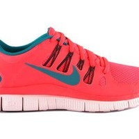 Wmns Nike Free 5.0 + Atomic Red Tropical Teal 580591-630 Women's Running Shoes Size 6