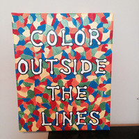 Color Outside The Lines Canvas Painting