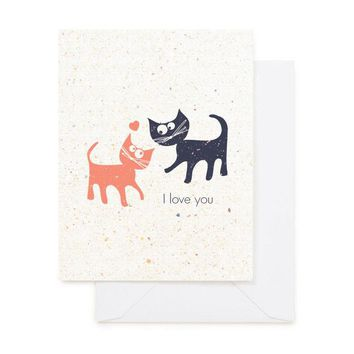 CATS LOVE GREETING CARD