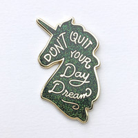 Unicorn Day Dreams Pin - Galaxy Glitter