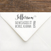 Personalized Address Stamp   Rustic Return Address Stamp   Custom Rubber Address Stamp   Rustic Wedding Stamp   Personalized Shower Gift